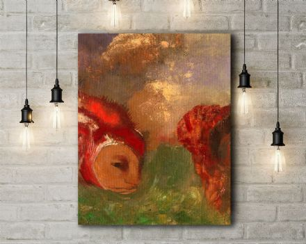Redon: Angelika and the Dragon. Fine Art Canvas.